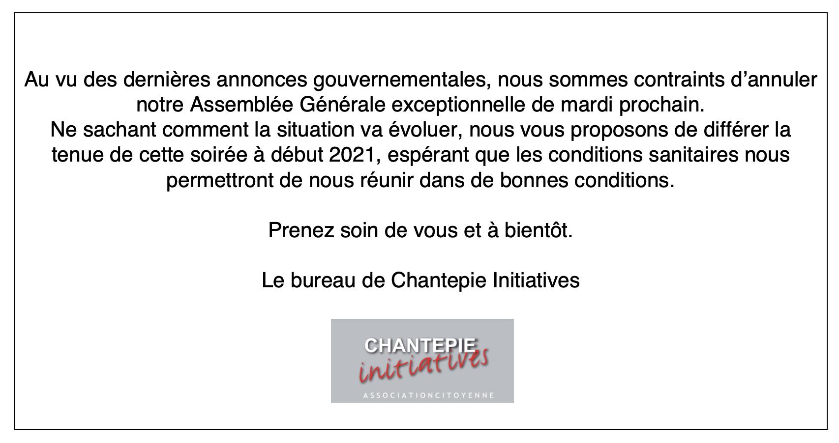 Annulation AG - 3.11.2020